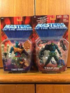 Masters Of The Universe MOTU He-man Villains Two Bad n Trapjaw Set Of 2 Trap-jaw Two Bad