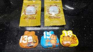 (2008年)OK便利店-加菲貓-妙妙每一天磁石貼(共五個)懷舊玩具