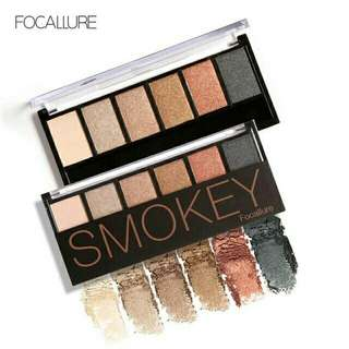 Ready no 3 focallure eyeshadow palette 6 warna smokey