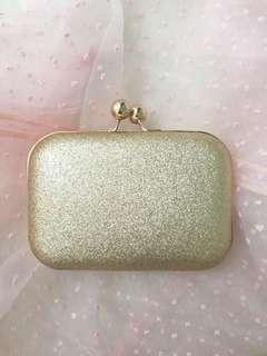Glittery Gold Clutch Bag