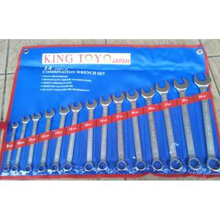 King Toyo 14 Piece Combination Wrench Set 8-24mm