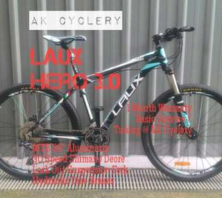 "🚚 MTB 26"" LAUX HERO 3.0 Aluminium 30 Speed Shimano Deore Lock Out Suspension Fork Hydraulic Disc Brakes Bicycle"