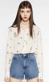 Zara mermaid print blouse