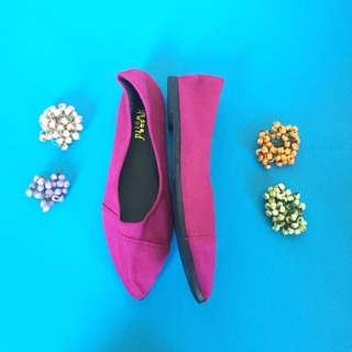 🆕 Korean velvet flat shoes