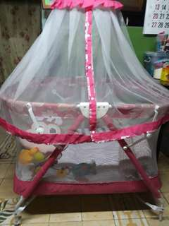 giant carrier floral pink crib