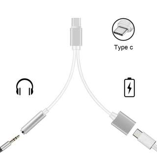 316. 2-in-1 USB-C (Type-C) to 3.5mm Headphone Audio Adapter Charging Cable