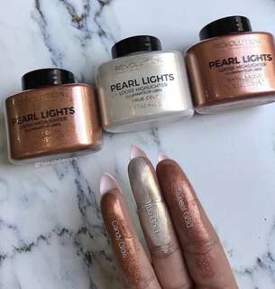Sale! Loose Highlighters Pearl Lights by Makeup Revolution