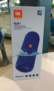 #JBL Flip 4 BLUE AUTHENTIC
