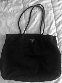 Authentic PRADA Large Tessuto Shoulder Bag