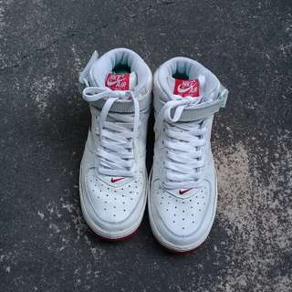 PRICE DROP Nike Air Force I (White and red)