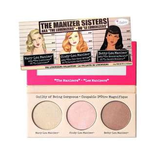 (PO) The Manizer Sisters Blush and Highlight Palette The Balm