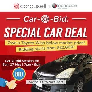 Car-O-Bid! Live Car Auction on Carousell!