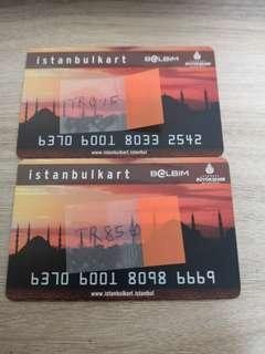 Istanbulkart with 85.60 Lira value