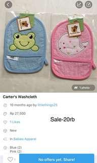 Sale-Carter Washcloth