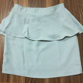 🚚 日牌 韓製 專櫃cheek 淺綠色窄裙 短裙 包裙 #一百元好物