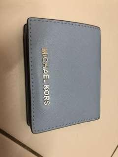 MK blue wallet