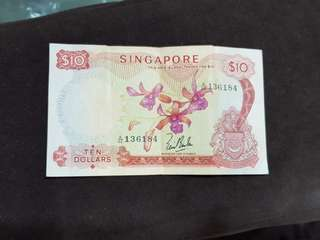 Singapore Orchid $10 notes