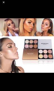 Miss Rose Professional Makeup 6 Pan 6 Colours Glow Kit Highlighter