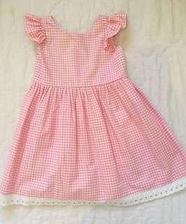 Liltati Pink Gingham Lace Dress