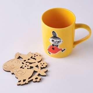 日本直送-日本MOOMIN 姆明系列亞美陶瓷杯+杯墊  ムーミン コースター付マグ ミィ