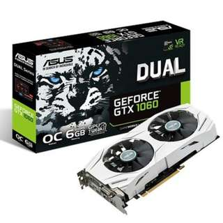 ASUS Dual series GeForce® GTX 1060 OC edition 6GB GDDR5