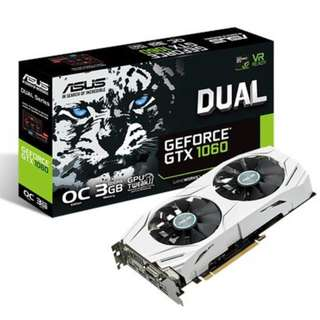 ASUS Dual series GeForce® GTX 1060 OC edition 3GB GDDR5