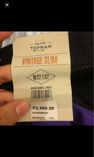 Brand new Topman Slim fit Jeans