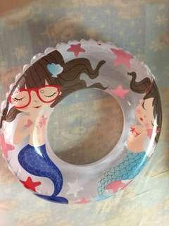 24吋海洋世界透明泳圈-美人魚🧜♀️🐟