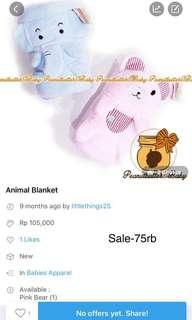 Sale-animal blanket