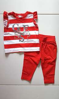 Authentic Baby Guess Children Girl Top & Pants Set