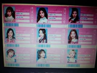 Twice Japan 1st Album ID card