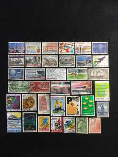 B.Denmark 35 Different Used Stamps  (Lot B)
