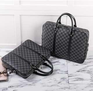 Monochrome Checkered Work Bag