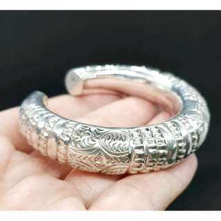 Solid Sterling Silver Cuff, Tribal, Brand NEW, 48.3 grams
