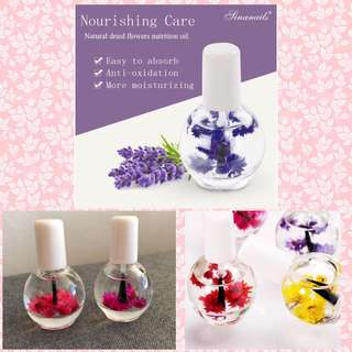 Dried flower nourishment oil for nail cuticle treatment