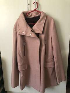 Suede trench coat bershka used once