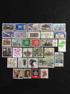 B.Germany 30 Different Used Stamps (Lot B)