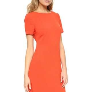 BCBG Peach Maxi Backless Dress