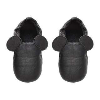 H&M Baby Toddler Kids Mickey Mouse Black Shoe Slipper Sandals