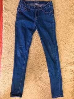 🚚 深藍色牛仔長褲