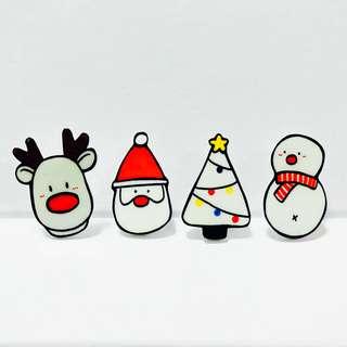 Christmas Set Badges