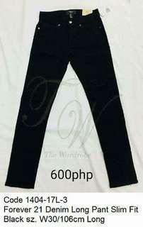 Forever 21 Mens Denim Skinny Long Pants