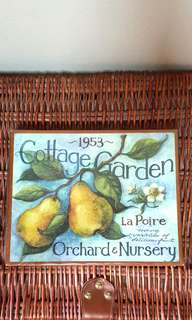 Cottage fruits wood signage