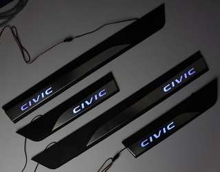 Civic fc door step with led