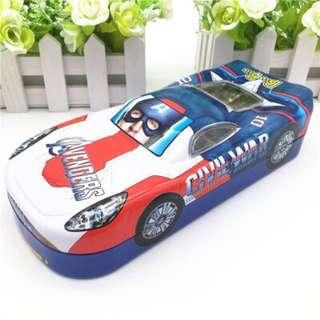 Metal pencil box sport car design doraemon/ car/ super hero