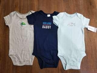 Carter's 短袖包屁衣 三件合售(12個月)