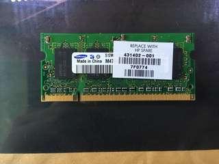 Samsung laptop 512MB Ram