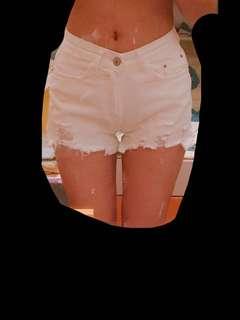 🚚 韓版中高腰白色短褲