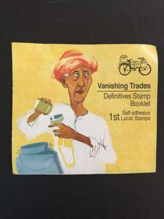 cst37 Definives Stamp Booklet - Vanishing Trades 1st Self-adhesive Local Stamps