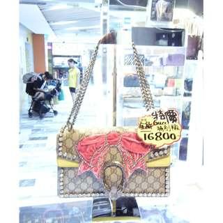Gucci Brown GG Logo Monogram Pvc Canvas Dionysus 400249 Chain Shoulder Handbag Hand Bag PHW 古馳 啡色 孖G 防物水料 帆布 蝴蝶結 閃石 酒神包 限量款 特別版 銀鍊 鍊袋 肩袋 手挽袋 手袋 袋